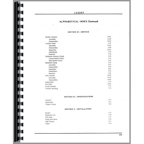 Oliver 1650 Loader Attachment Parts Manual