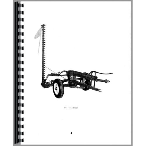 Oliver 415 Mower Operators Manual