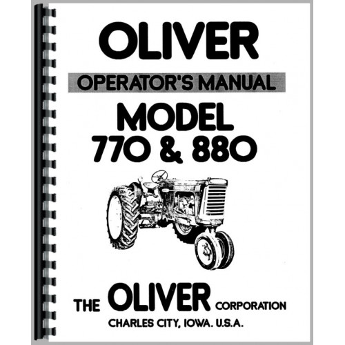 Oliver 770 Tractor Operators Manual (Row Crop, Industrial