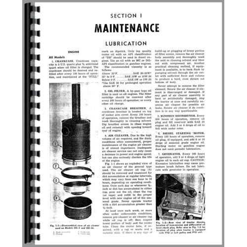 Oliver OC-4 Cletrac Crawler Service Manual