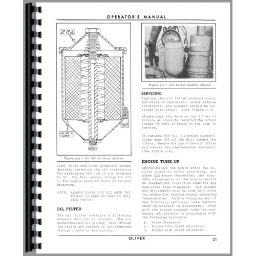 Oliver Super 44 Tractor Operators Manual