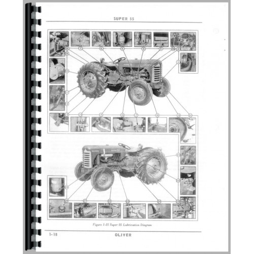 Oliver Super 55 Tractor Operators Manual