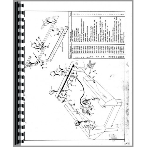 Owatonna 1200 Skid Steer Loader Parts Manual