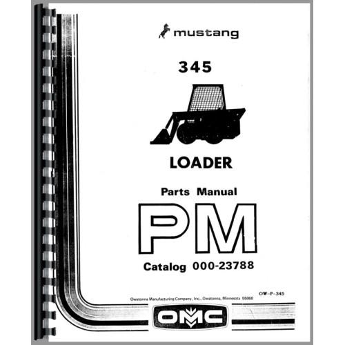 Owatonna 345 Skid Steer Loader Parts Manual