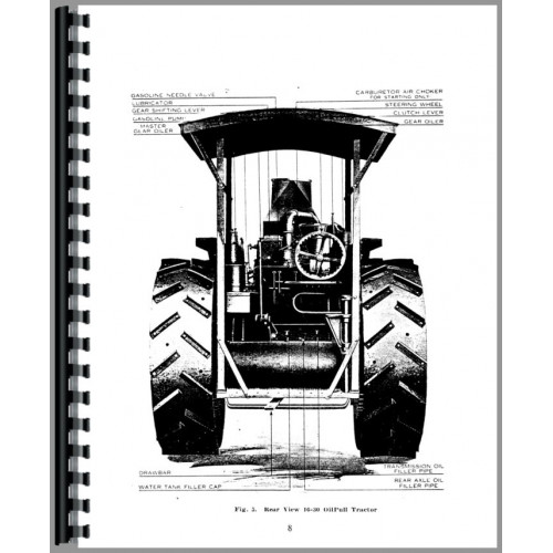 Rumely 16-30-H Oil Pull Tractor Service & Operators Manual