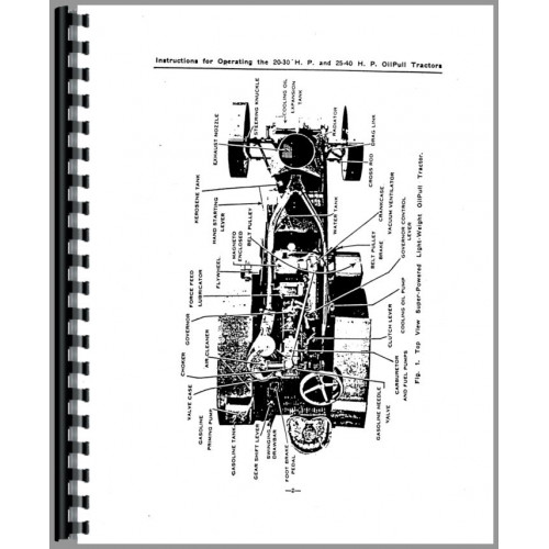 Rumely 25-40-X Oil Pull Tractor Service Manual