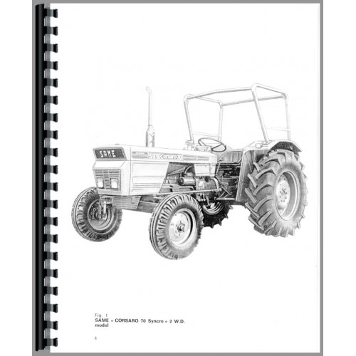 Same Corsaro 70 Tractor Operators Manual