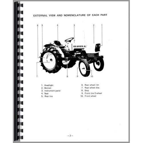 Satoh Bull Tractor Operators Manual (Bull)