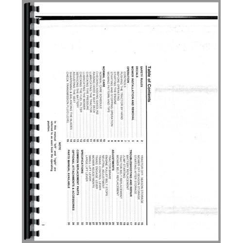 Simplicity 4212 Lawn & Garden Tractor Operators Manual