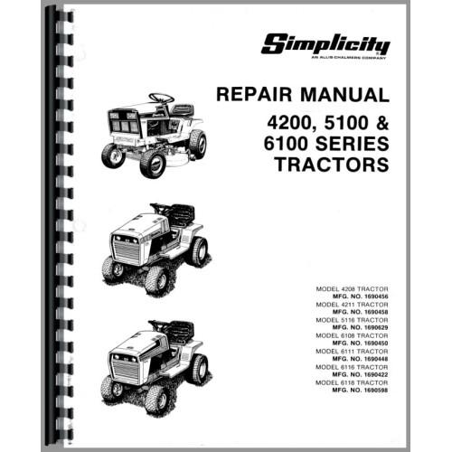 simplicity 4211 wiring diagram nissan radio lawn garden tractor service manual