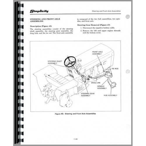 Simplicity 4040 Lawn & Garden Tractor Service Manual (Chassis)