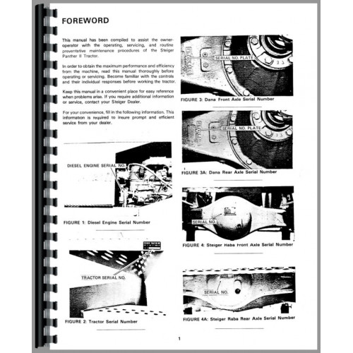 Steiger Panther II Tractor Operators Manual