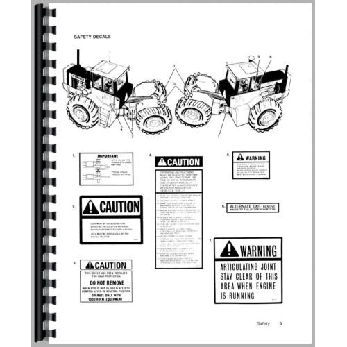 Versatile 875 Tractor Operators Manual