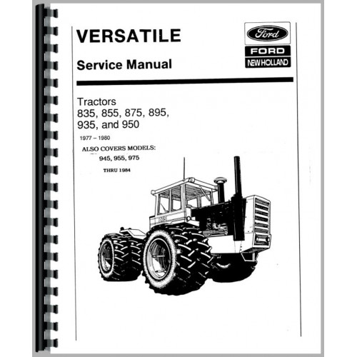 Versatile 895 Tractor Service Manual (1980-1984) (Chassis)