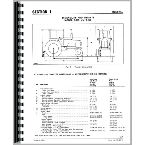 White 2-155 Tractor Service Manual (Diesel Only)
