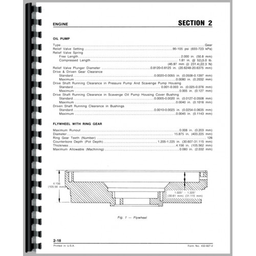 White 2-135 Tractor Service Manual (Diesel Only)