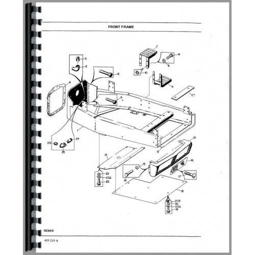 White 4-180 Tractor Parts Manual