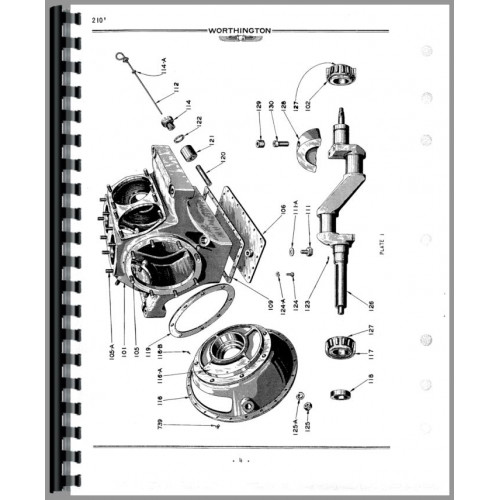 Worthington 210 Portable Air Compressor Parts Manual