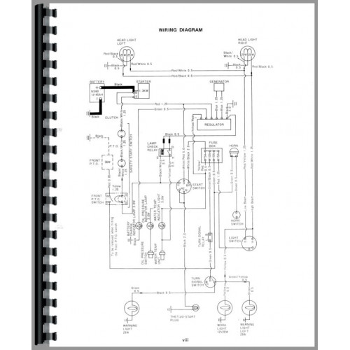 Yanmar YM186 Tractor Parts Manual