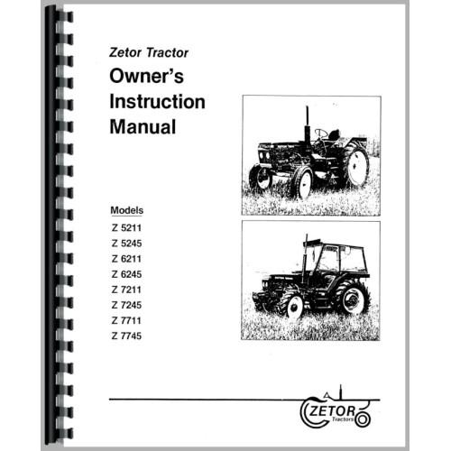 Zetor 7245 Tractor Operators Manual