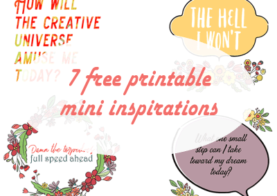 7 Free Printable Mini Inspirations to Brighten Your Day