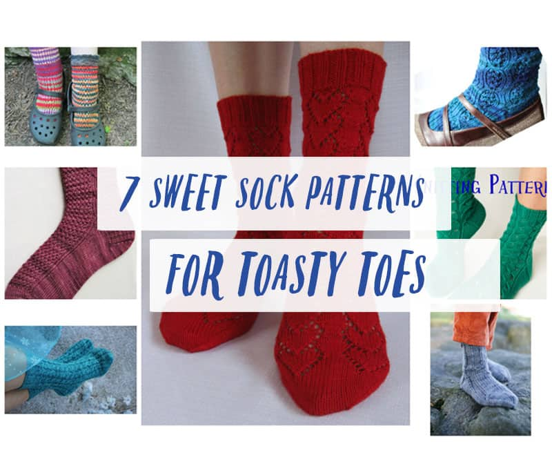 7 Sweet Sock Patterns to Knit for Toasty Toesies