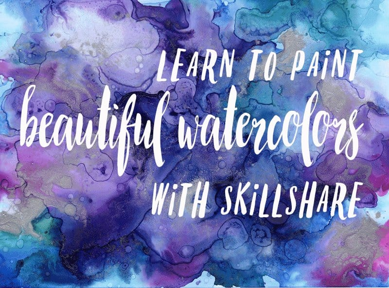 Learn to paint beautiful watercolors with Skillshare