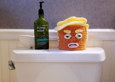 Trump Toilet Paper Cover Crochet Pattern
