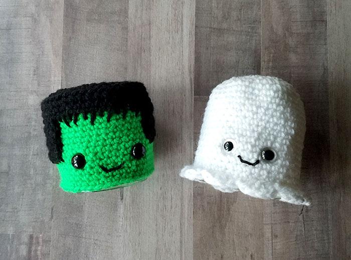 Crochet Frankenstein Upcycled Halloween Craft