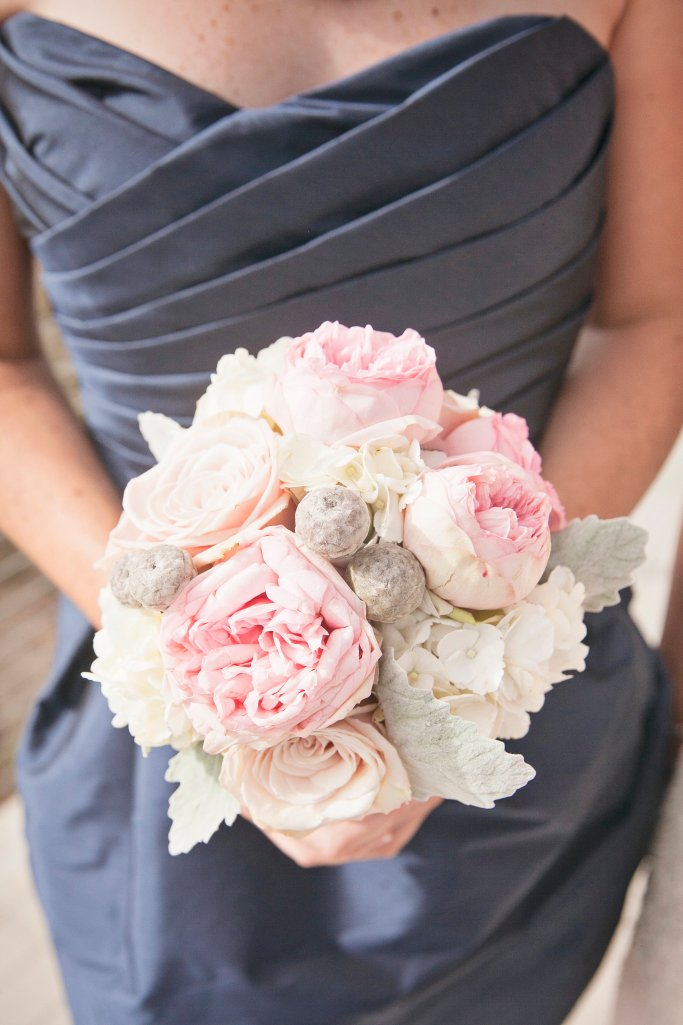 Bridesmaid Bouquet, Rose & Garden Rose Bouquet, Chambers Bay, Navy & Pink Wedding
