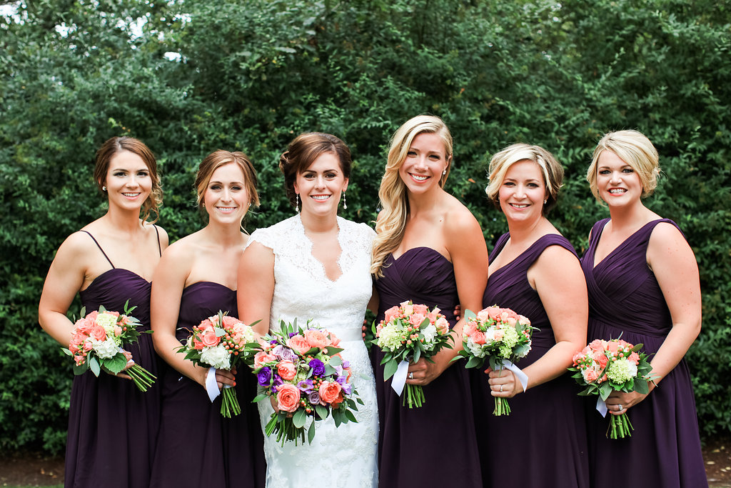 Bride & Bridesmaids at Laurel Creek Manor || flowers by Jen's Blossoms || photo by Kate Price Photography
