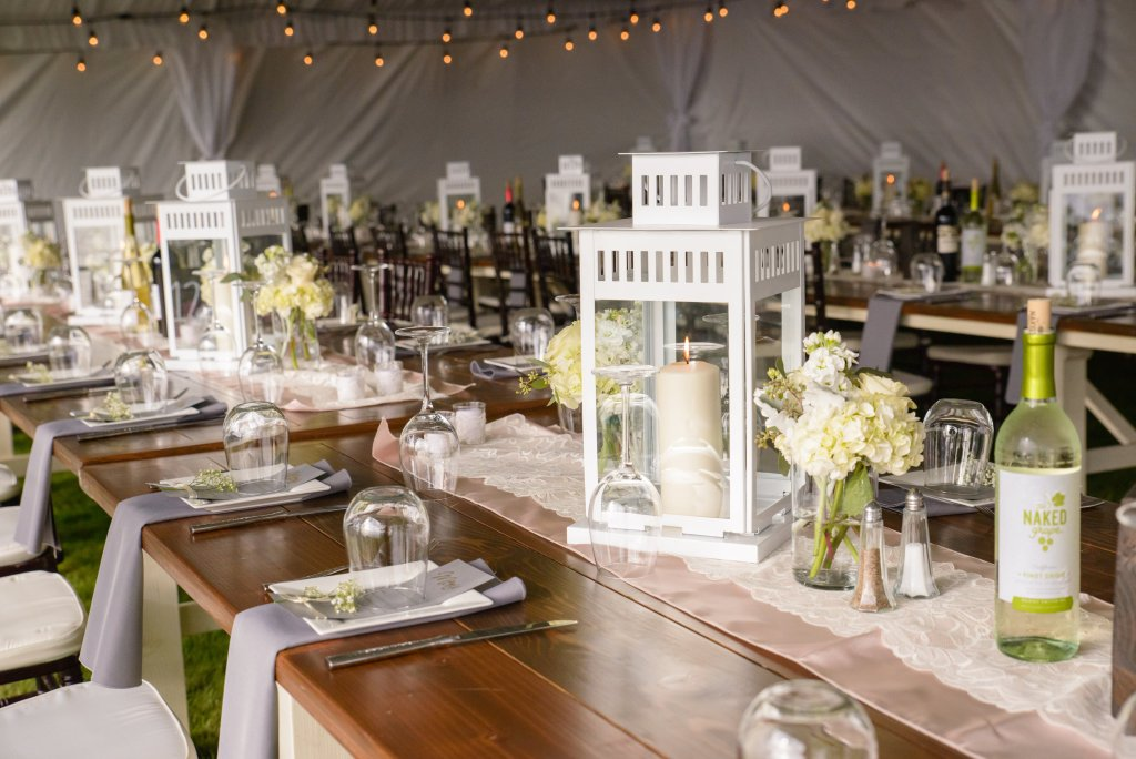 Seattle Farm Tables, Lanterns, Centerpiece, Table Decor