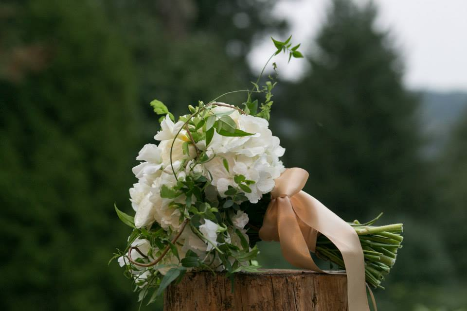 Brides Bouquet, white and green