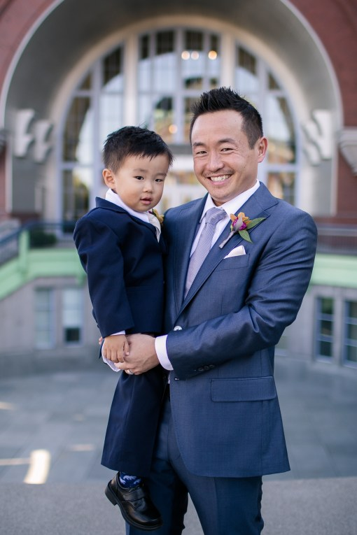 Union Station Tacoma Wedding || Photo: Genesa Richards Photography ||Groom & Ring Tiger