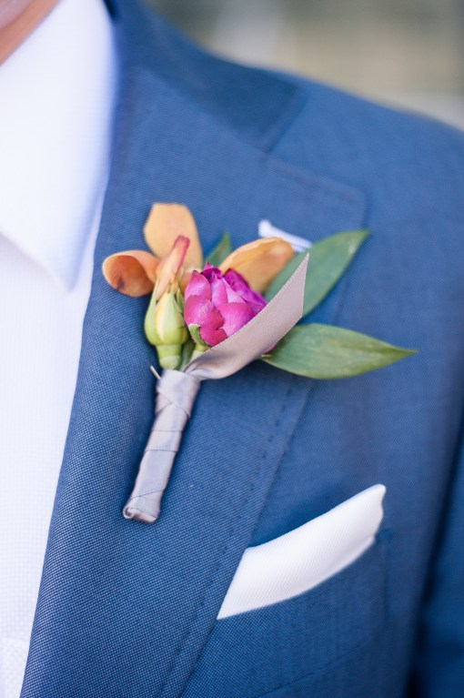 Union Station Tacoma Wedding || Photo: Genesa Richards Photography ||Boutonniere: Jen's Blossoms