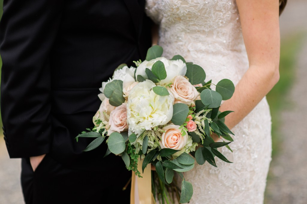 Peony, Rose, & Astilbe Bridal Bouquet by Jen's Blossoms