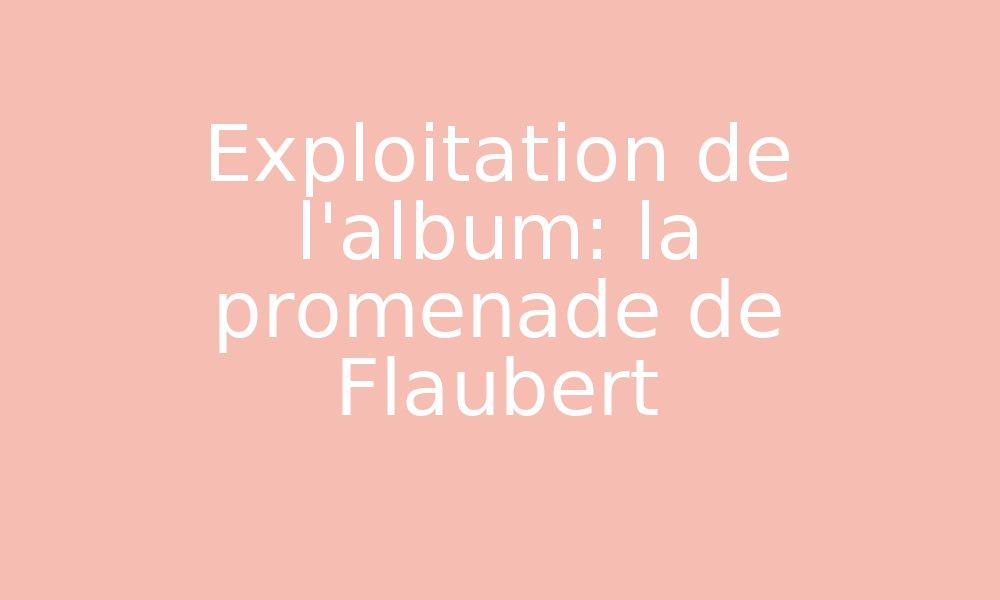 Exploitation De L Album La Promenade De Flaubert Par