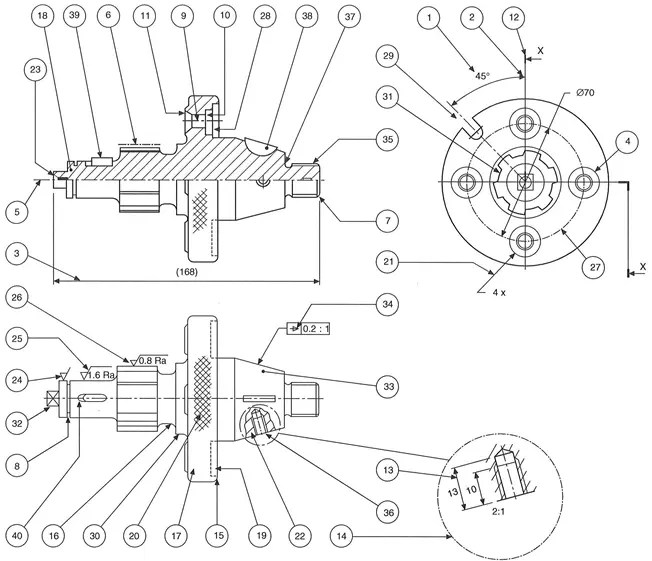 The requirements of machine drawings (Manufacturing