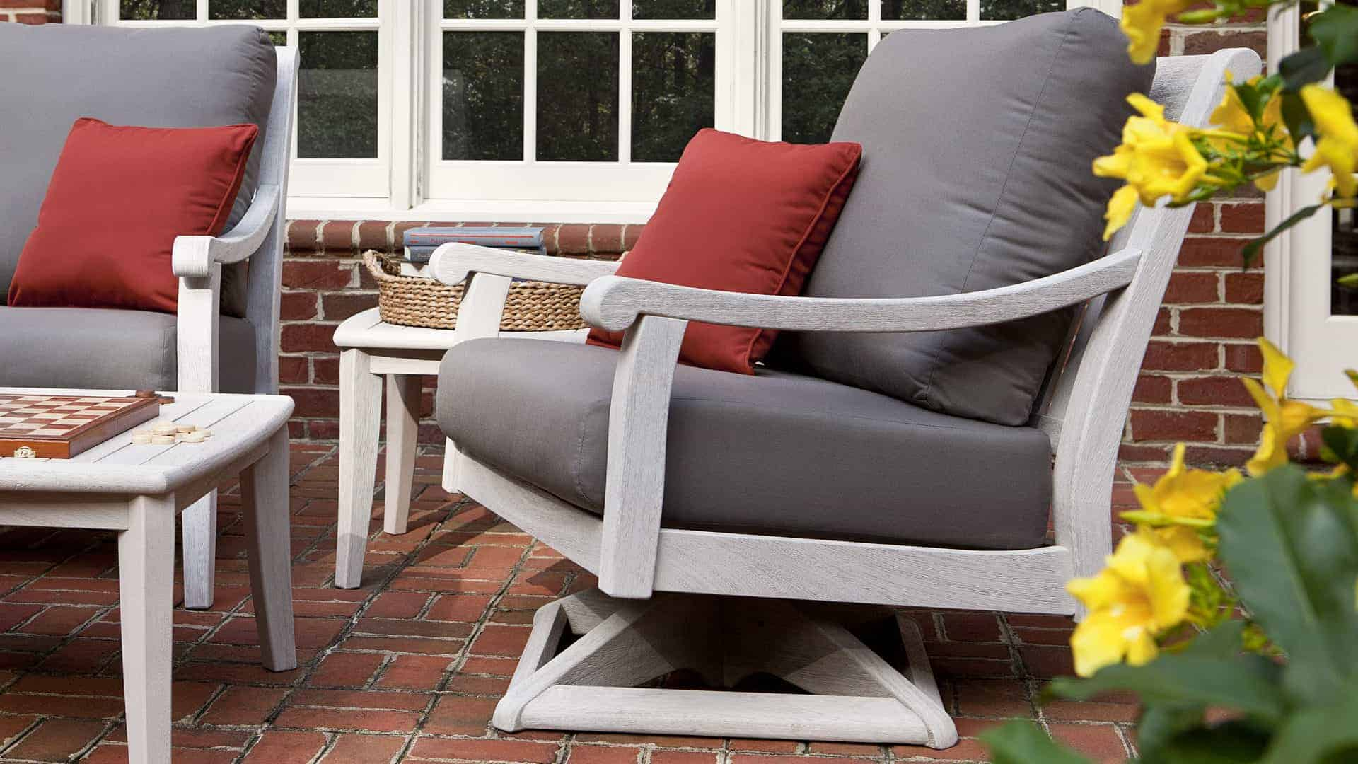 ipe adirondack chairs cheap kitchen table and chair sets argento swivel rocker - jensen leisure furniture