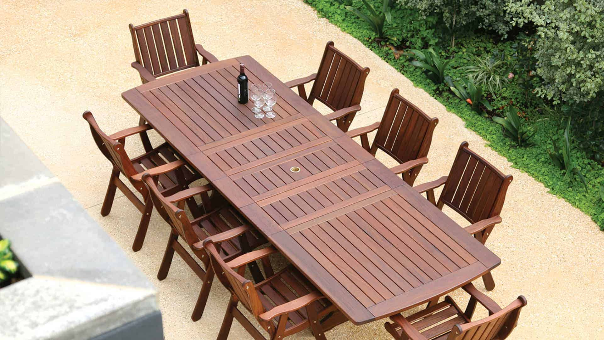 outdoor table and chairs wood dining chair frames for upholstery ipe furniture crafted by jensen leisure