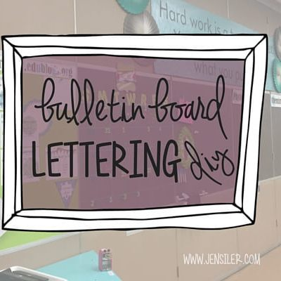 DIY bulletin board lettering