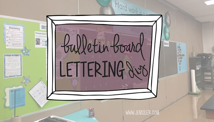 Create custom bulletin board lettering