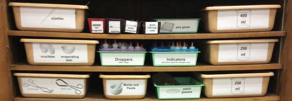 organize science equipment straight crop