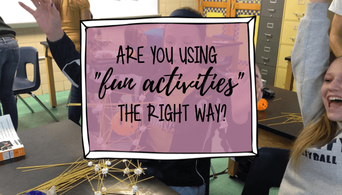 fun activites Jen siler's classroom