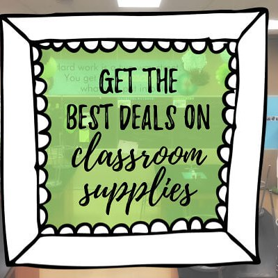 get the best deals on classroom supplies