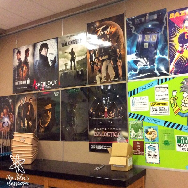 fangirl posters in classroom