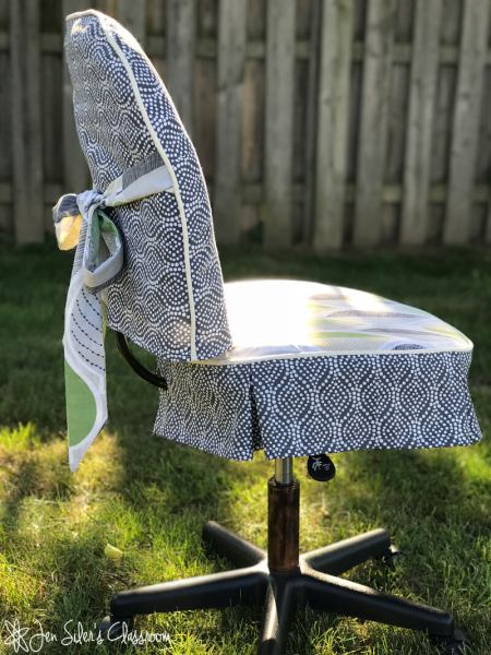 desk chair slipcover side