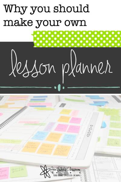 lesson planner post pinterest graphic