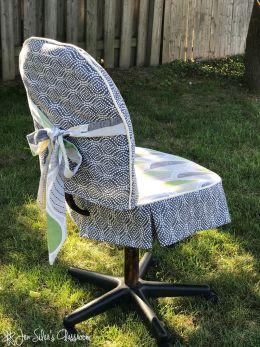 desk chair slipcover back