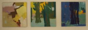 Tre malerier Jens Peter Nielsen